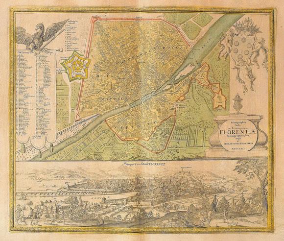 План-карта города Флоренция (1731)