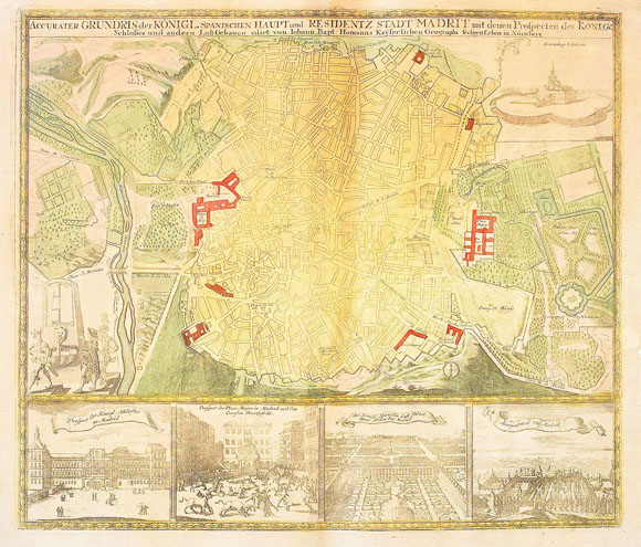 План-карта города Мадрид (1735)