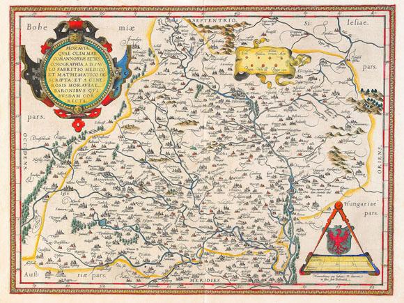 Старинная карта Моравии (1734)