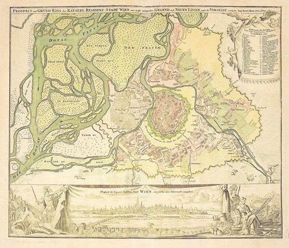 План-карта города Вена (1750)